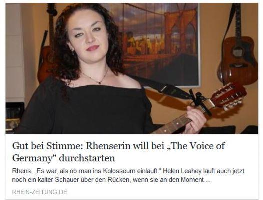 Rhein Zeitung Auschnitt
