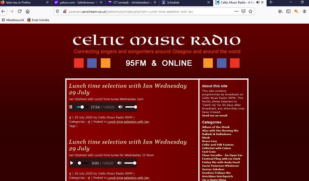 Celtic Music Radio plays Helen 29th July 2020